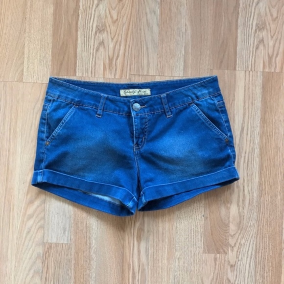 Celebrity Pink Pants - Celebrity Pink Juniors Blue Cuffed Jean Shorts 9